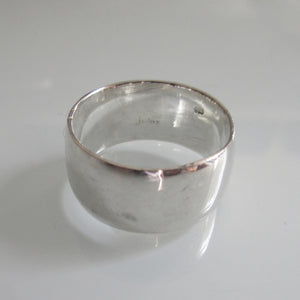 Vintage Sterling Silver Band Ring Polished