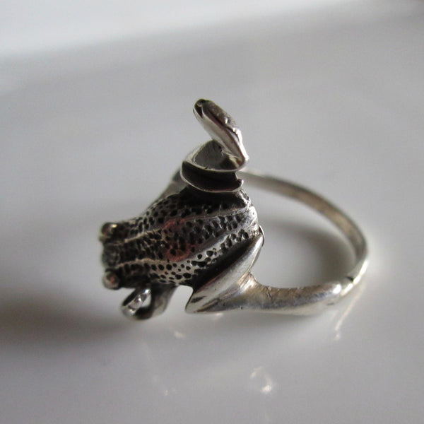Frog Sterling Silver ring