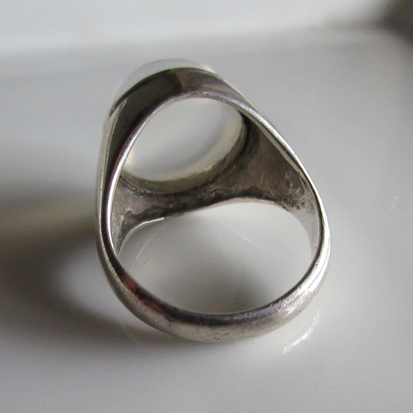 Moonstone & Sterling Silver Ring Large
