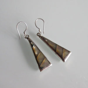 Vintage Mother of Pearl and Sterling Silver Earrings
