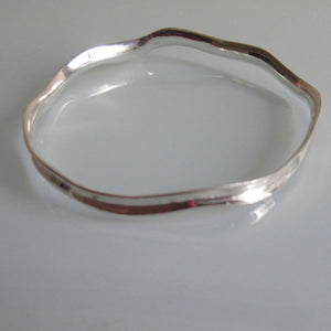 Sterling Silver Wave Bangle