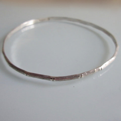 Vintage Sterling Silver Birk's Bangle Bamboo