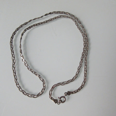 Vintage Flat Braid Herring Bone Chain