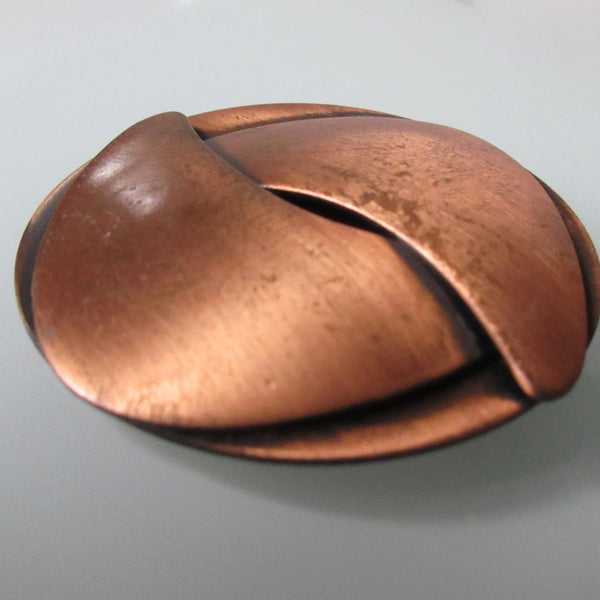 Mid Century Copper Brooch