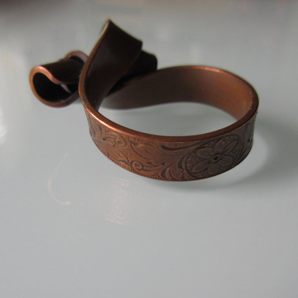 Copper Ring with Turned Top