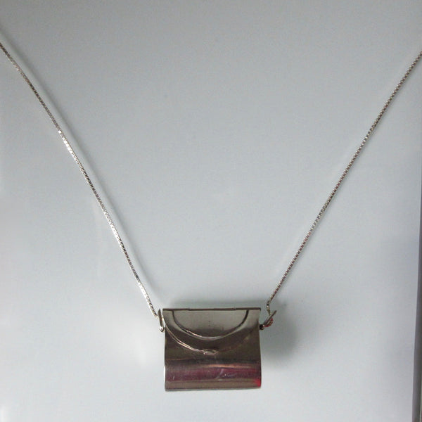 Purce Pendant & Sterling Silver Chain 26""