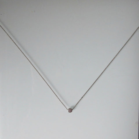 Circle Bead & Sterling Silver Chain 18""