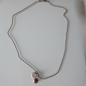 Moonstone Pendant  on Sterling Silver Chain 16""