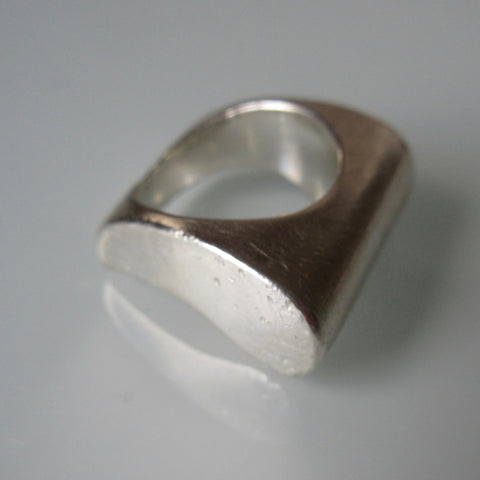 Curved Band Sterling Silver Ring