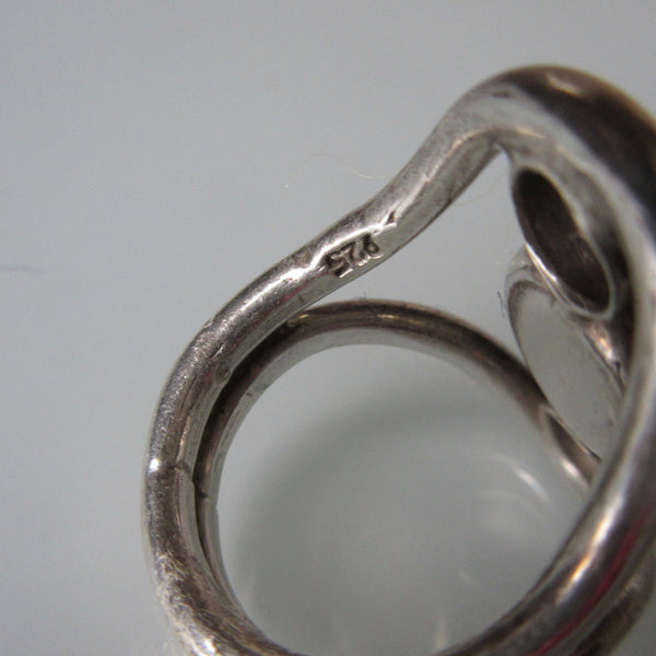 Vintage Onyx and Sterling Silver Ring