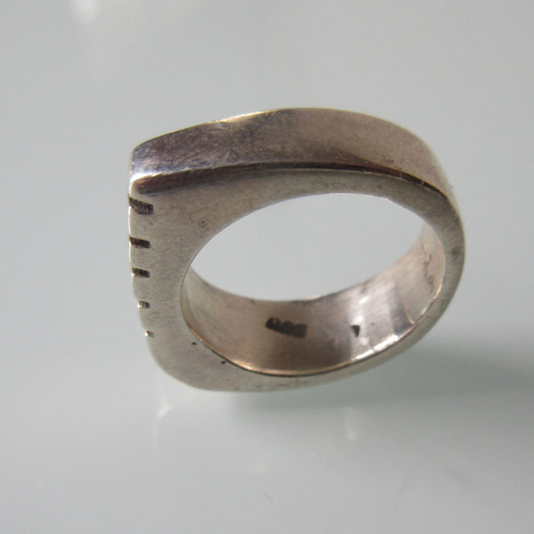 Contemporary Bar Sterling Silver Ring