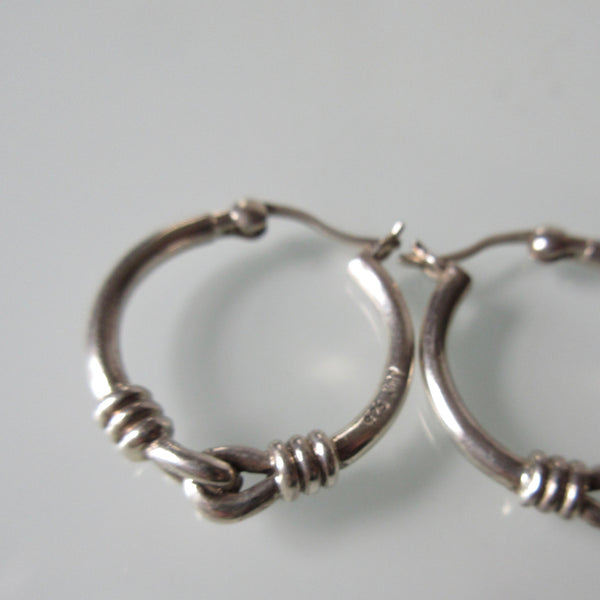 Knot Sterling Silver Hoop Earrings