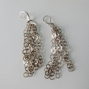 Circle Dangle Sterling Silver Earrings