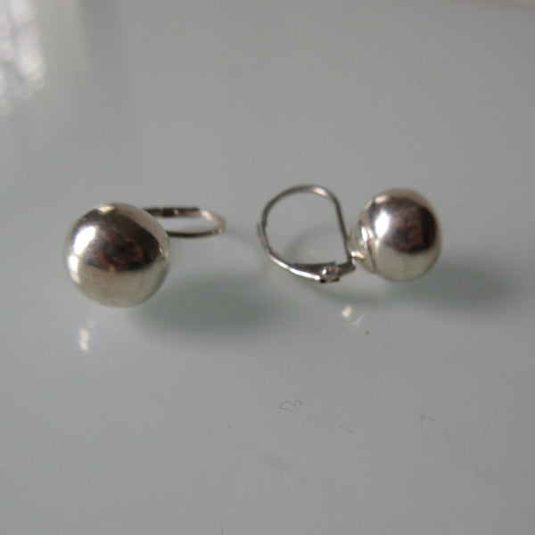Ball Sterling Silver Earrings
