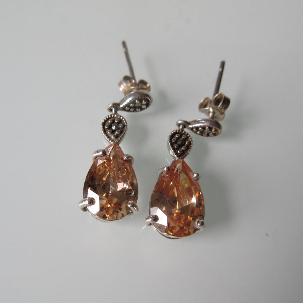Bling Sterling Silver Earrings