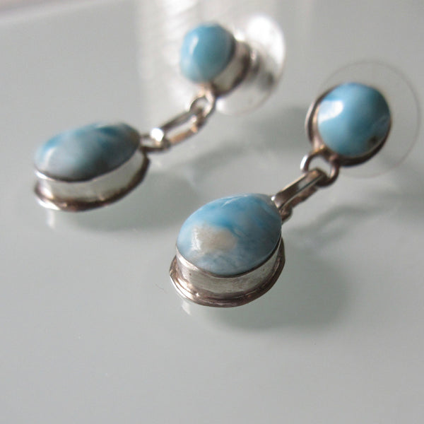 Turquoise Dangle Sterling Silver Earrings