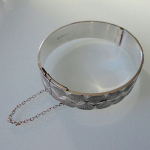 vintage british silver hinged bangle
