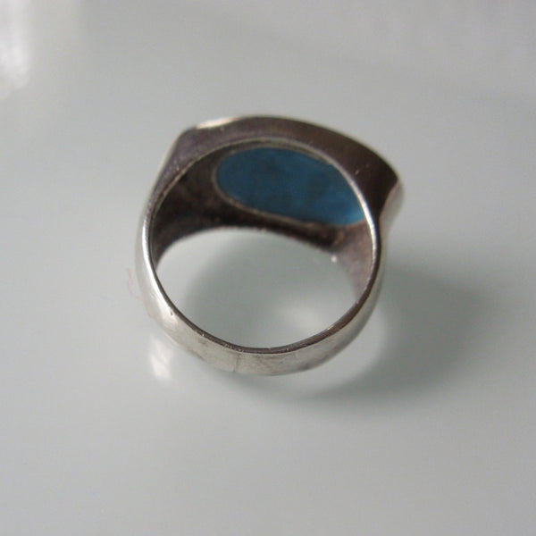 Modern Turquoise & Sterling Silver Ring
