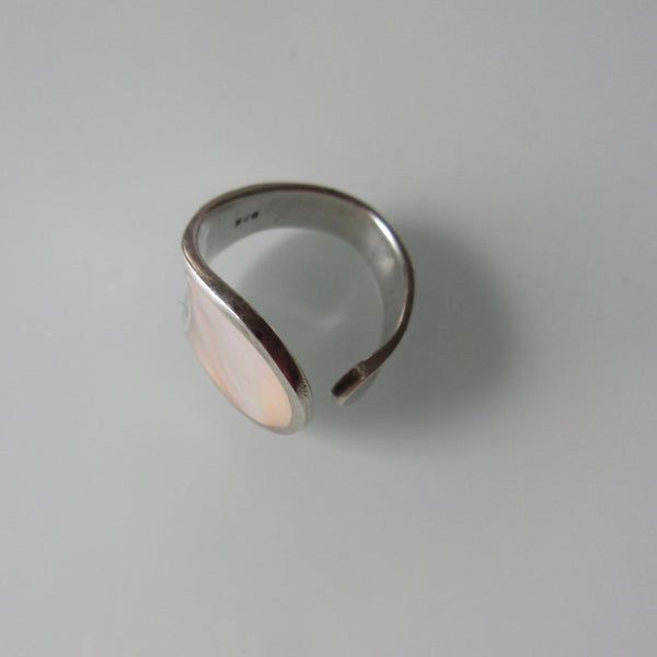 Cuff Sterling Silver Mother of Pearl Ring