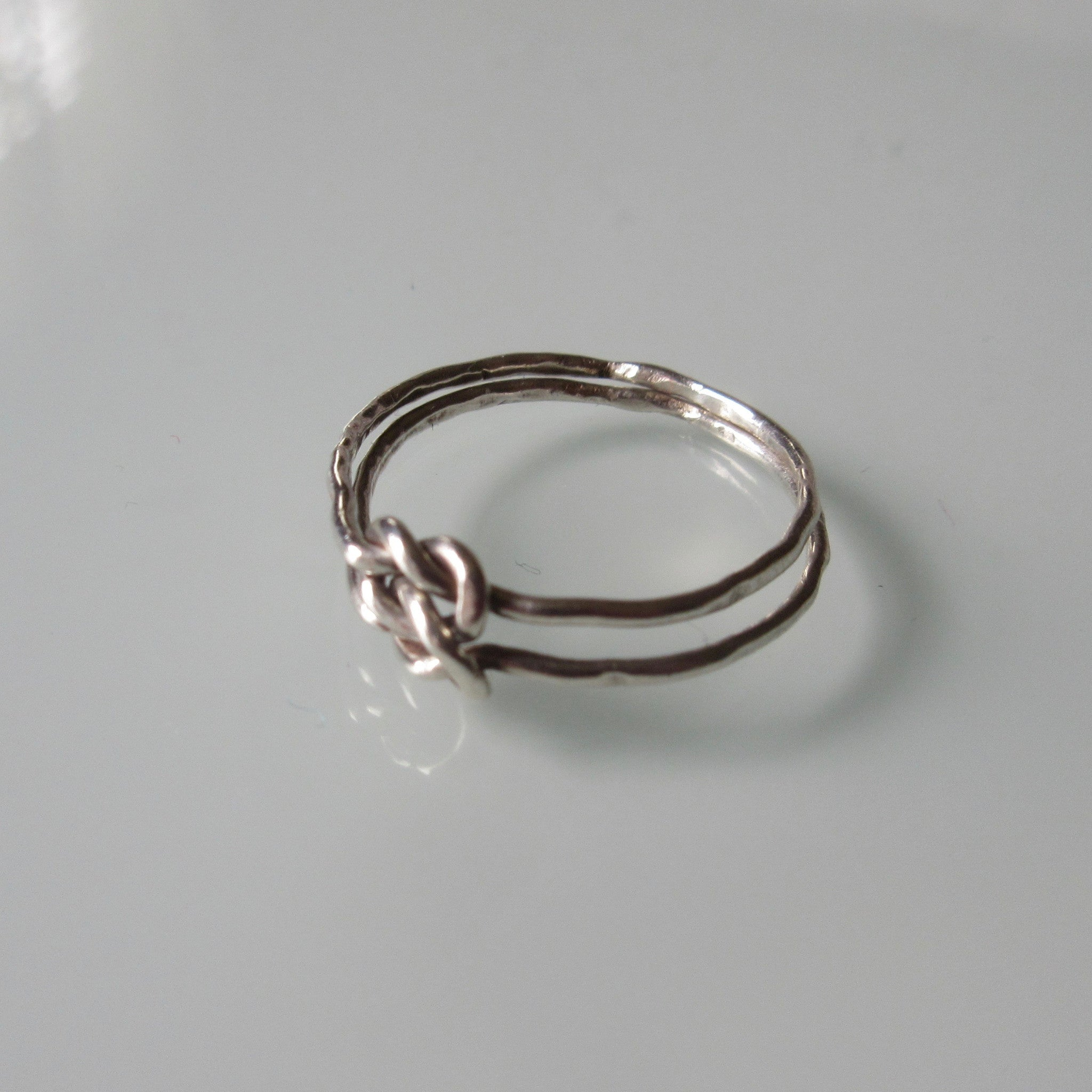 Double Knot Sterling Silver Ring