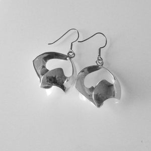 Sculptural Sterling Silver Earrings