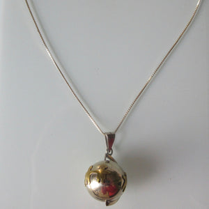 Harmony Ball Pendant on Sterling Silver Chain 20""