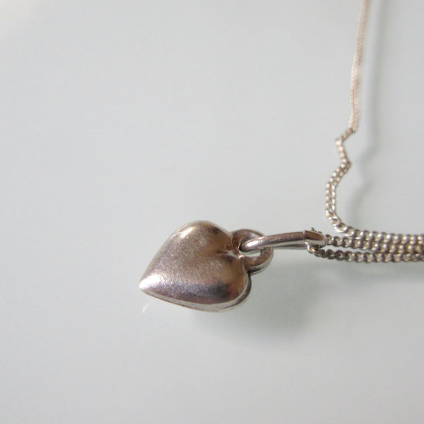 Heart Charm Sterling Silver and Chain
