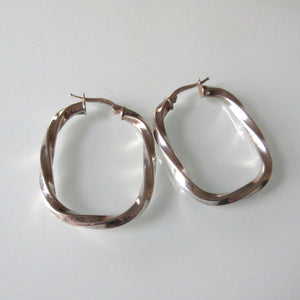 sterling silver hollow hoop earrings