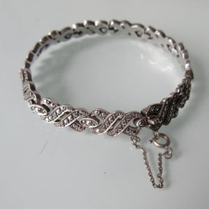 Marcasite and Sterling Silver Bracelet German