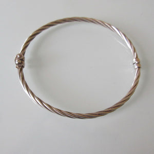 Sterling Silver Hinged Bangle Italy