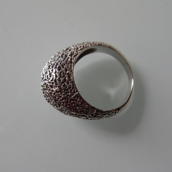 Hand Made Modernist Sterling Silver Organic Ring