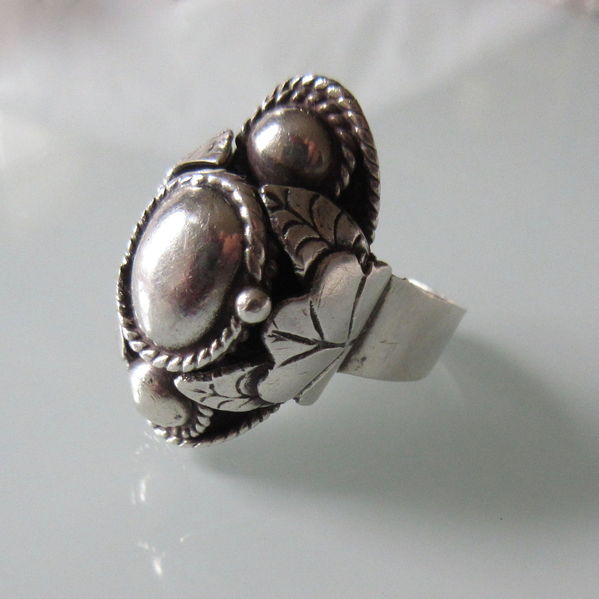 Vintage Sterling Silver Poison Ring Taxco Mexican