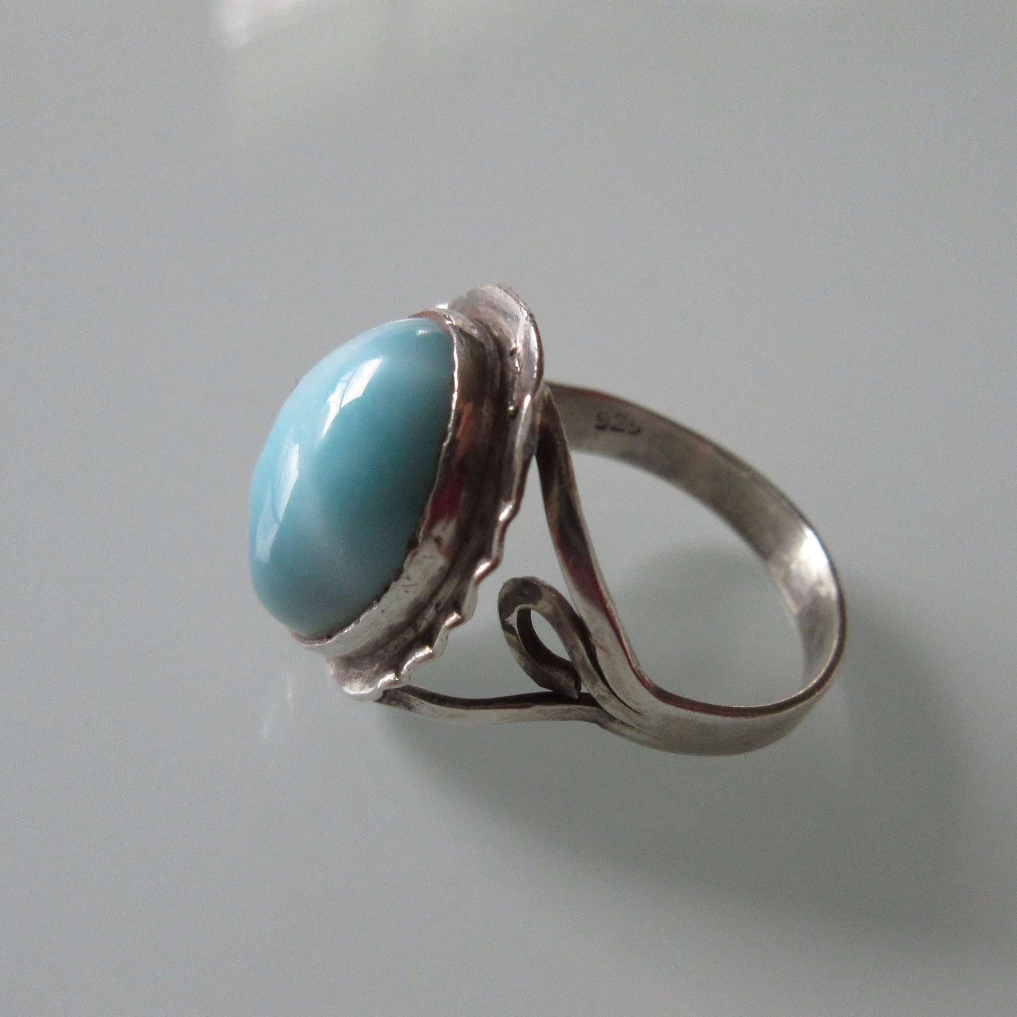 Turquoise Cabochon & Sterling Silver Ring