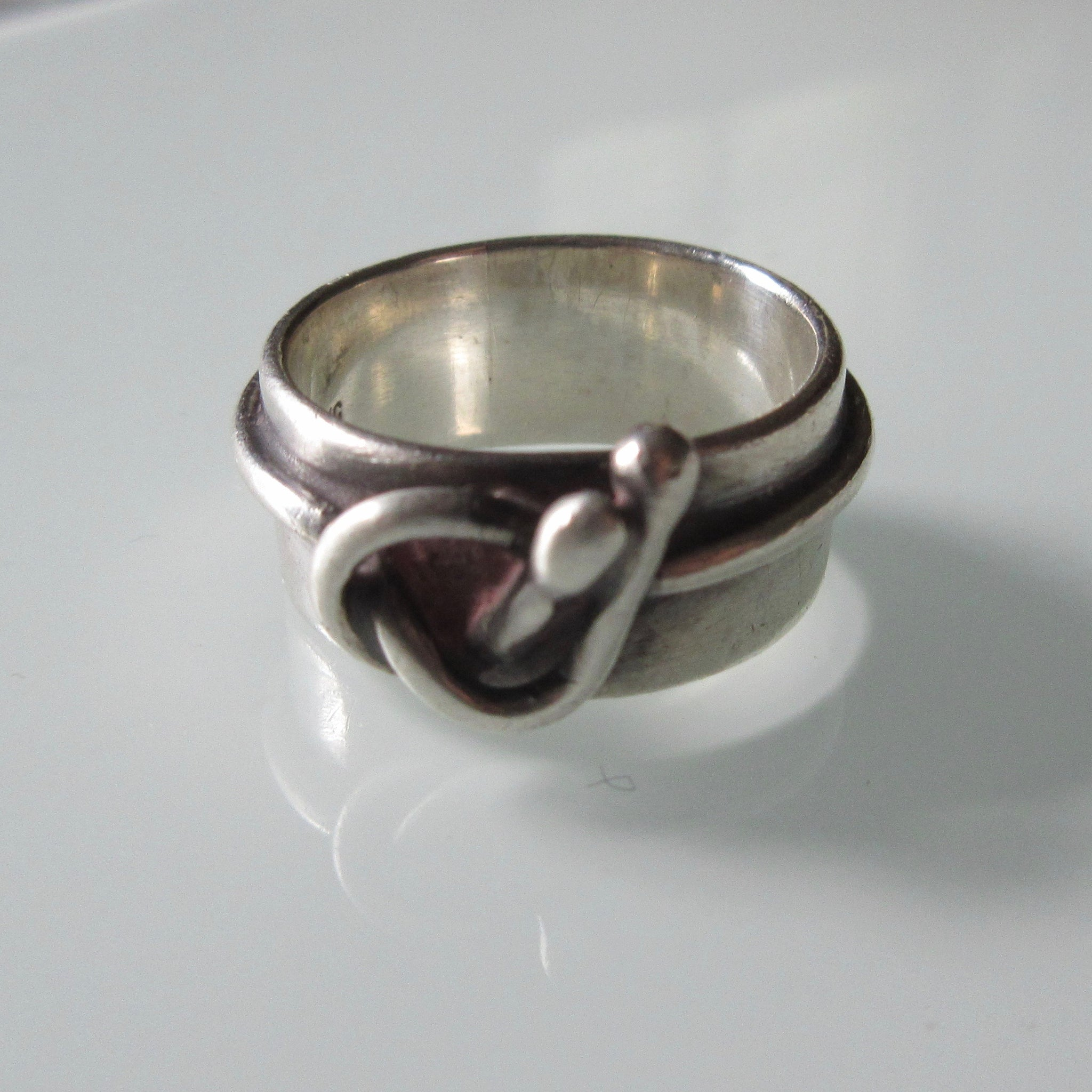 Modernist Sterling Silver Ring Mieke