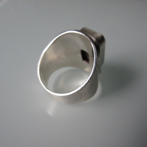 Modernist Jasper & Sterling Silver Ring