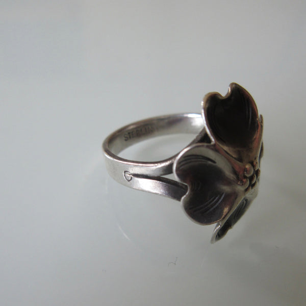 Modernist Dogwood Sterling Ring Steuart Nye