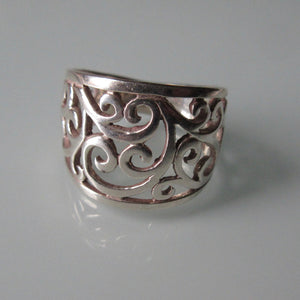 Contemporary Open Scroll Sterling Silver Ring