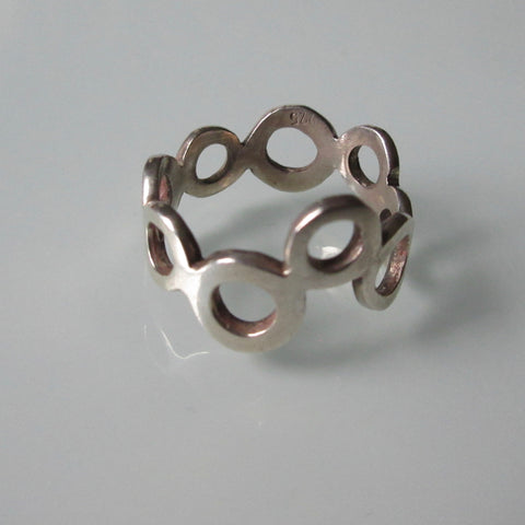 Modernist Circle Sterling Silver Ring