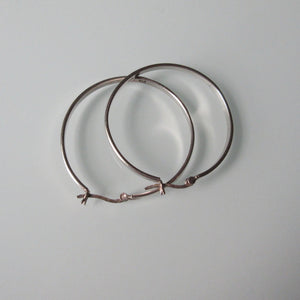 Contempoary Sterling Silver Hoop Earrings