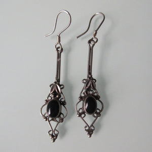Filigree Dangle Sterling Silver Earrings