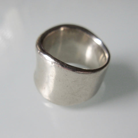 Vintage Sterling Silver Organic Form Ring