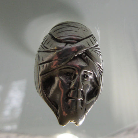 Vintage Sterling Silver Aladdin Turban Ring