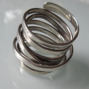 Vintage Mexican Wrap Sterling Silver Ring
