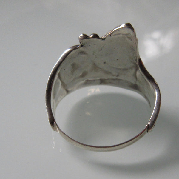 Vintage Organic with stone Sterling Silver Ring
