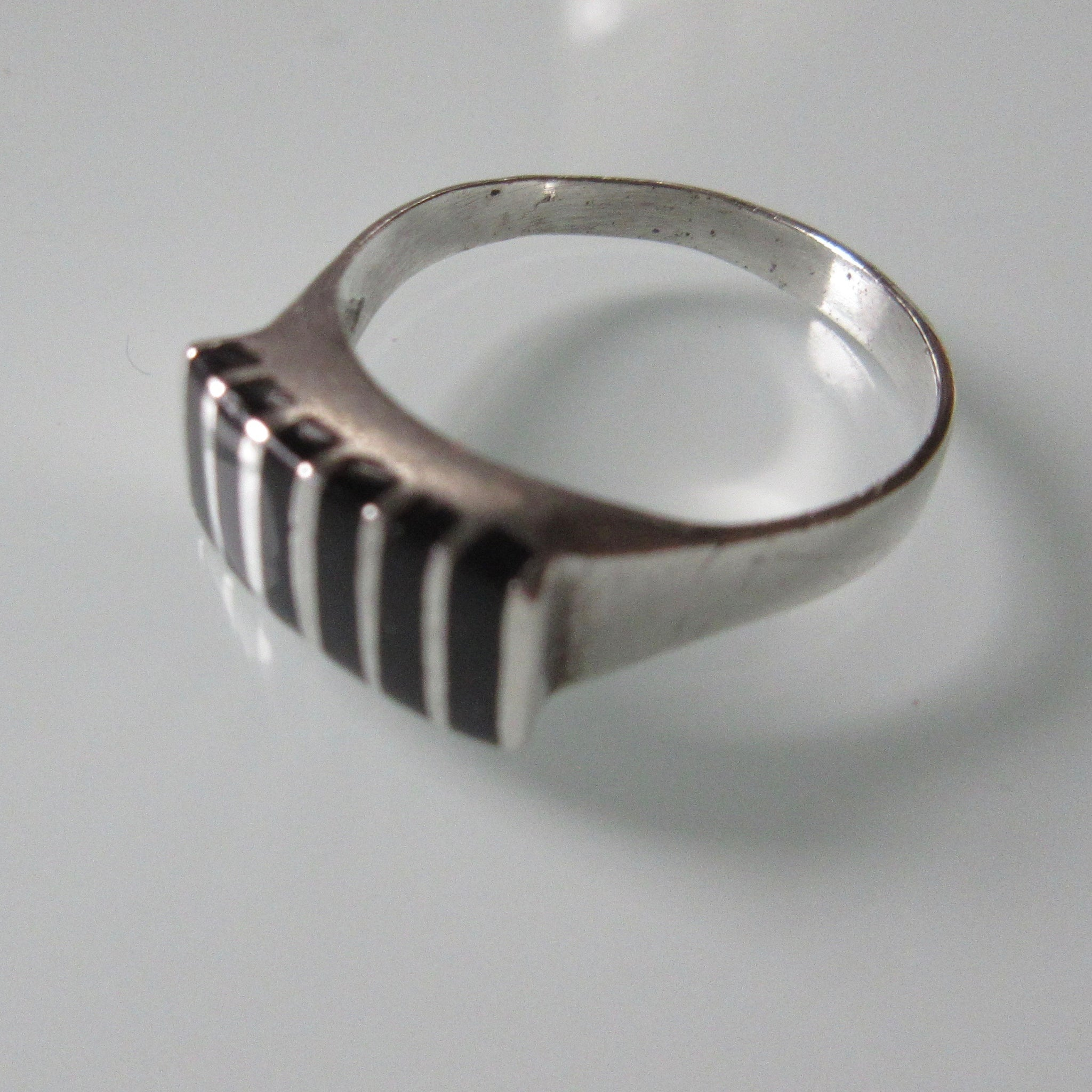 Vintage Bars Onyx Sterling Silver Ring