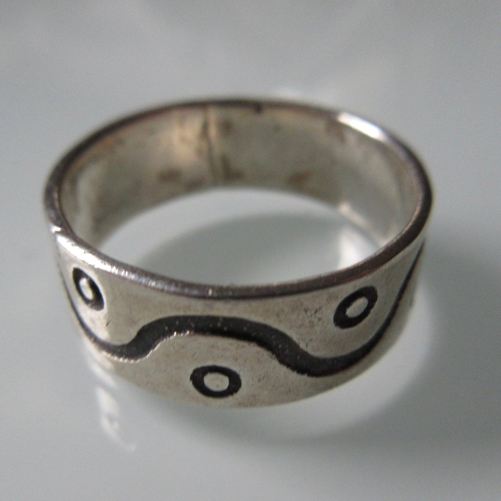 Wave & Dot Sterling Silver Ring