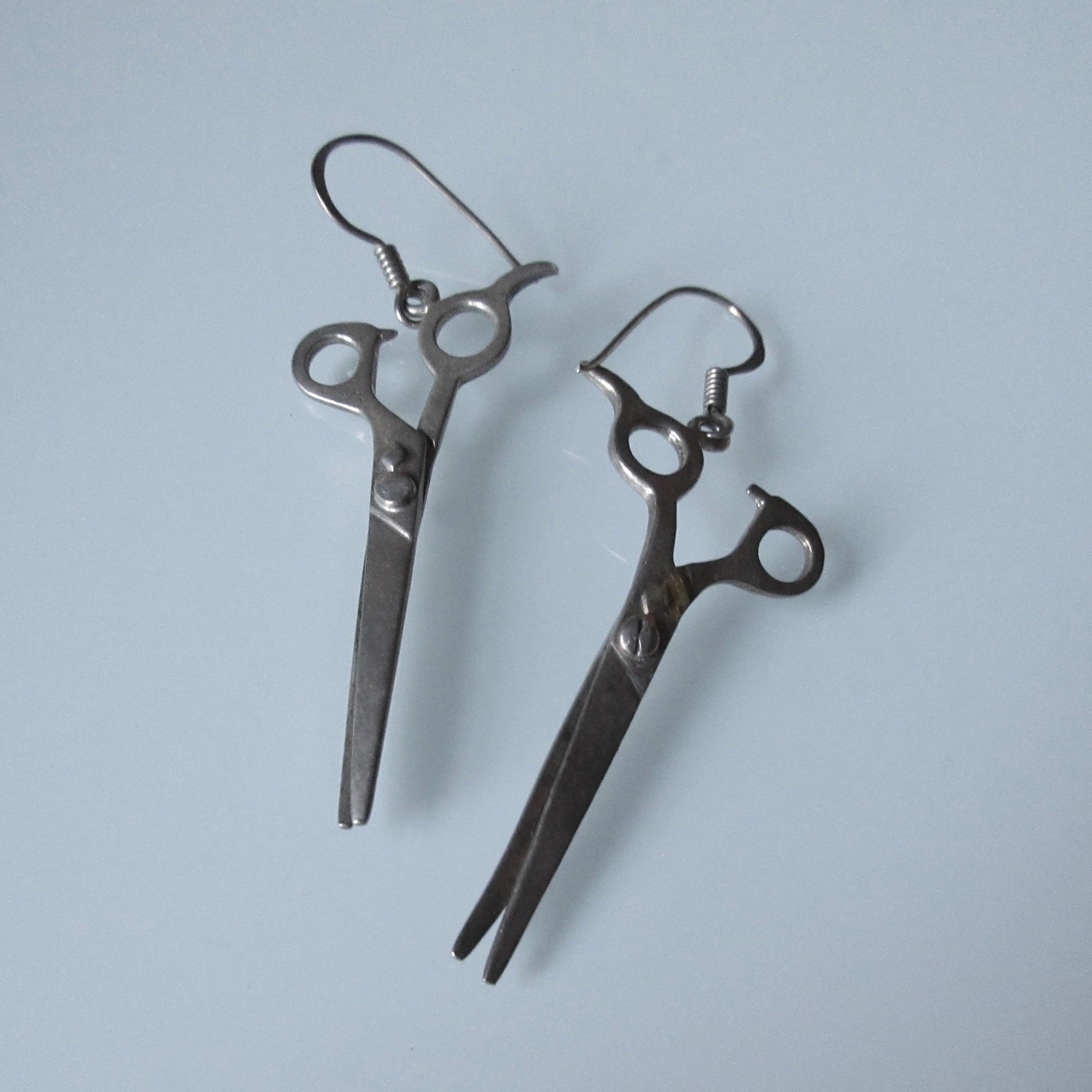 Hair Dresser Scissors Sterling Silver  Earrings
