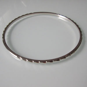 Vintage Mexican Ridged Sterling Silver Bangle