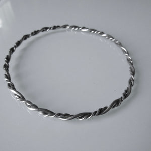 Wrapped Sterling Silver Bangle