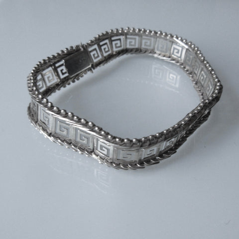 Greek Key Sterling Silver Bracelet